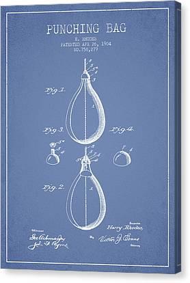 1904 Punching Bag Patent Spbx12_lb Canvas Print by Aged Pixel