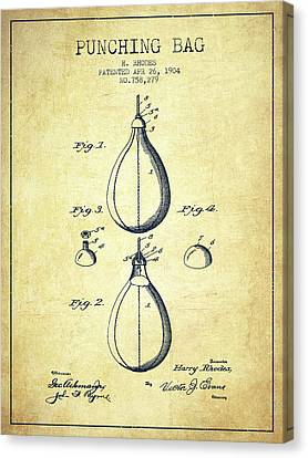 1904 Punching Bag Patent Spbx12_vn Canvas Print by Aged Pixel