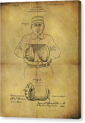 1905 Baseball Glove Patent Canvas Print by Dan Sproul