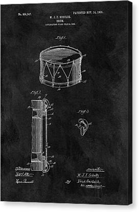 1905 Drum Patent Illustration Canvas Print by Dan Sproul