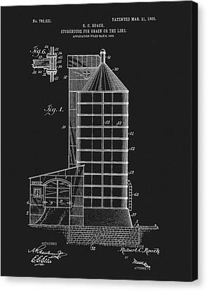 1905 Grain Silo Patent Canvas Print