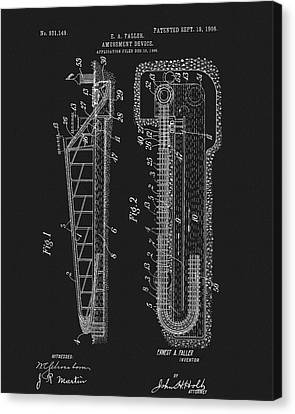 Spin Canvas Print - 1906 Roller Coaster Patent by Dan Sproul