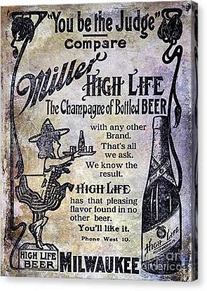1907 Miller Beer Advertisement Canvas Print