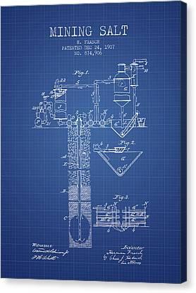 1907 Mining Salt Patent En36_bp Canvas Print by Aged Pixel
