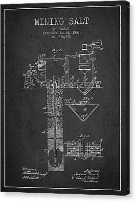 Machinery Canvas Print - 1907 Mining Salt Patent En36_cg by Aged Pixel