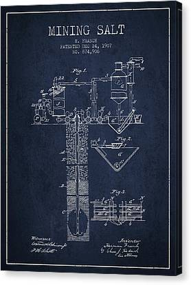 1907 Mining Salt Patent En36_nb Canvas Print by Aged Pixel
