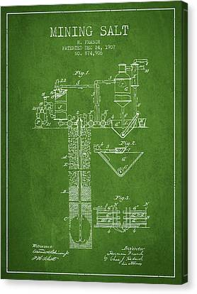 1907 Mining Salt Patent En36_pg Canvas Print by Aged Pixel