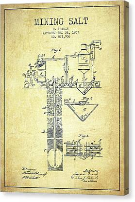 1907 Mining Salt Patent En36_vn Canvas Print by Aged Pixel