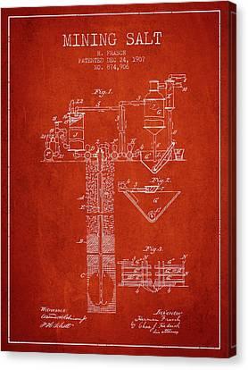1907 Mining Salt Patent En36_vr Canvas Print by Aged Pixel
