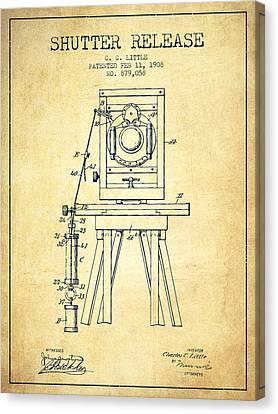 1908 Shutter Release Patent - Vintage Canvas Print