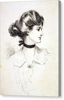 1909 Drawing By Charles Dana Gibson Canvas Print by Everett