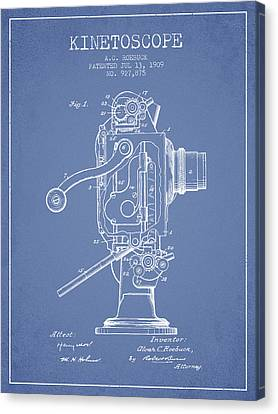 1909 Kinetoscope Patent - Light Blue Canvas Print by Aged Pixel