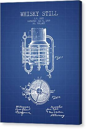 1909 Whisky Still Patent Fb78_bp Canvas Print by Aged Pixel
