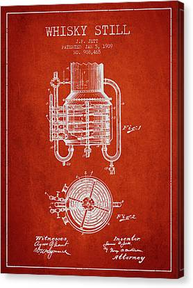 Making Canvas Print - 1909 Whisky Still Patent Fb78_vr by Aged Pixel