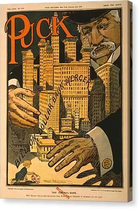 1910 Cartoon Expressing Concern That Canvas Print by Everett
