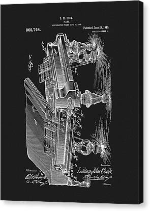 Classical Music Canvas Print - 1910 Piano Patent by Dan Sproul