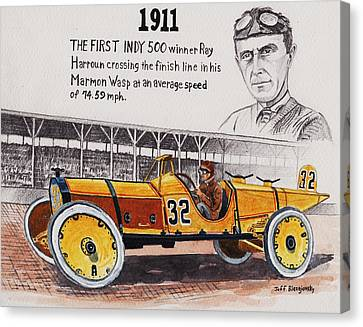 1911 Indy 500 Winner Canvas Print