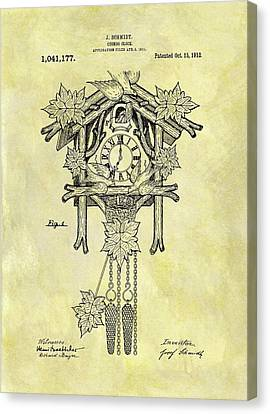 1912 Cuckoo Clock Patent Canvas Print by Dan Sproul