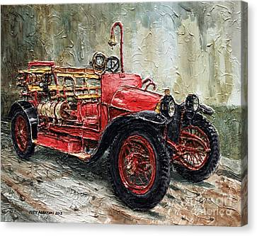 1912 Porsche Fire Truck Canvas Print by Joey Agbayani