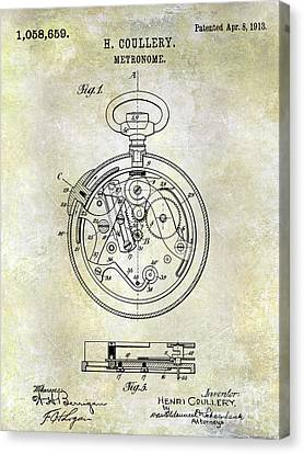 1913 Pocket Watch Patent Canvas Print