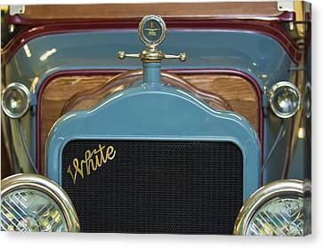 1913 White Gentlemans's Roadster Grille Canvas Print by Jill Reger