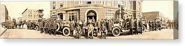 1914 Gary Indiana Fire Department Panoramic Canvas Print