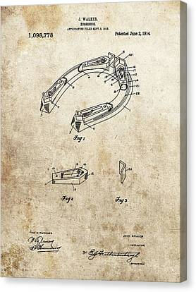 1914 Horseshoe Patent Canvas Print by Dan Sproul