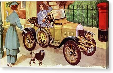 1914 Morris Oxford Canvas Print by Peter Jackson