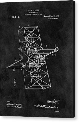 1914 Wright Brothers Airplane Canvas Print by Dan Sproul