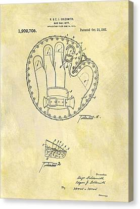 1916 Baseball Glove Patent Canvas Print by Dan Sproul