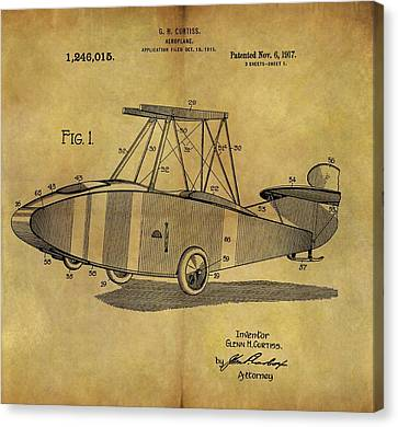1917 Airplane Patent Canvas Print by Dan Sproul