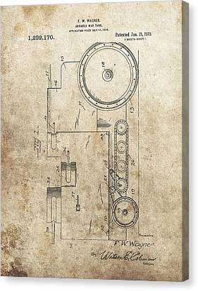 1919 Army Tank Patent Canvas Print by Dan Sproul