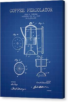 1919 Coffee Percolator Patent - Blueprint Canvas Print