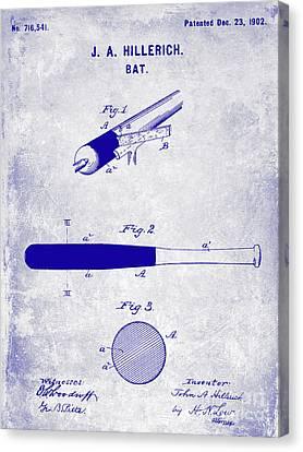 1920 Baseball Bat Patent Blueprint Canvas Print by Jon Neidert
