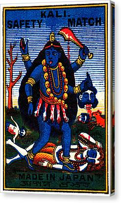 1920 Hindu Goddess Kali Canvas Print