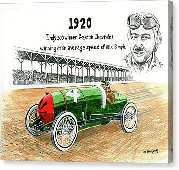 1920 Indy 500 Winner Gaston Chevrolet Canvas Print