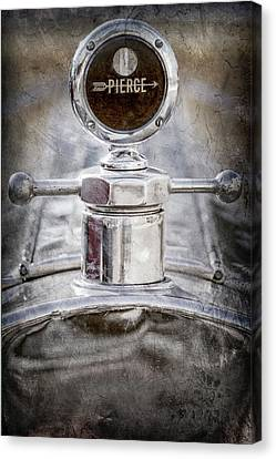 Canvas Print featuring the photograph 1920 Pierce-arrow Model 48 Coupe Hood Ornament -2829ac by Jill Reger