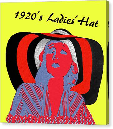 1920s Ladies Hat Canvas Print by Bruce Iorio