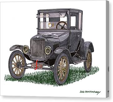 1923 Ford Model T Coupe Canvas Print
