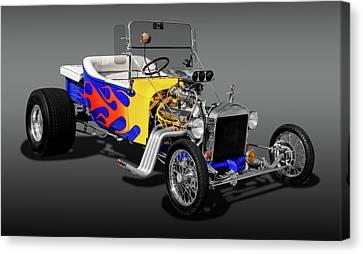 1923 Ford T-bucket  -  1923fordtbucfa9558 Canvas Print by Frank J Benz
