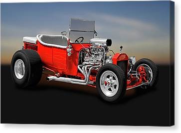 1923 Ford T-bucket Roadster    -    1923fordtbucket170588 Canvas Print by Frank J Benz