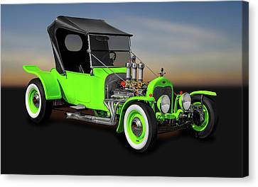 1923 Ford T-bucket Roadster  -  1923fordtbucket9997 Canvas Print by Frank J Benz