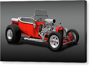 Canvas Print featuring the photograph 1923 Ford T-bucket Roadster  -  1923fordtbucketfa170588 by Frank J Benz