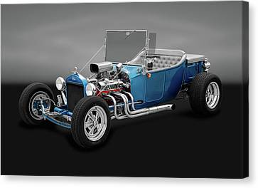1923 Ford T-bucket Roadster  -  1923fordtbuckrdstrgry170297 Canvas Print by Frank J Benz