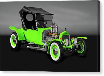 1923 Ford T-bucket Roadster  -  1923tbucketfordgry9997 Canvas Print by Frank J Benz