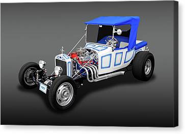 1923 Ford T-bucket Roadster  -  23tbucketfa9496 Canvas Print by Frank J Benz
