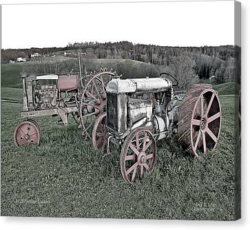 1923 Fordson Tractors Canvas Print by Mark Allen