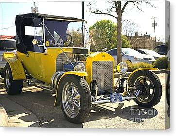 1923 Yellow Ford Model T Side Canvas Print