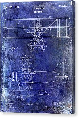 Stearman Canvas Print - 1924 Airplane Patent by Jon Neidert
