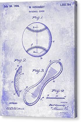 1924 Baseball Patent Blueprint  Canvas Print by Jon Neidert